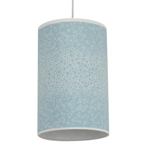 Raindrops Cylinder Light in Aqua by Oilo