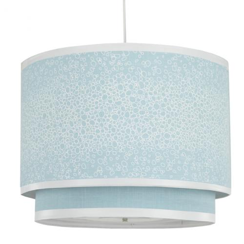 Raindrops Double Cylinder Light in Aqua by Oilo