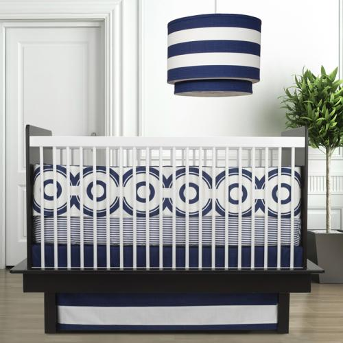 Wheels 3-Piece Crib Set in Cobalt Blue by Oilo Thumbnail