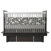 Modern Berries 3-Piece Crib Set in Brown by Oilo