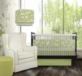 Modern Berries 3-Piece Crib Set in Spring Green by Oilo