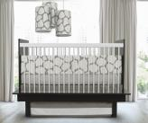 Cobblestone 3-Piece Crib Set in Taupe by Oilo