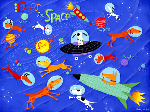 Dogs In Space by Oopsy daisy