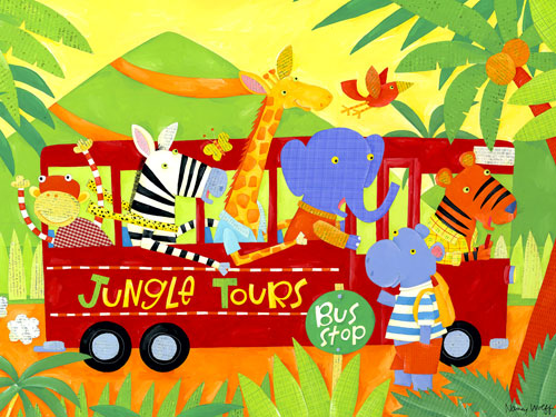 Jungle Tours by Oopsy daisy