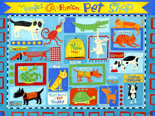 Perfect Companion Pet Shop by Oopsy daisy