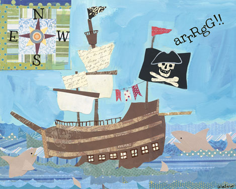 Treasure Ship by Oopsy daisy