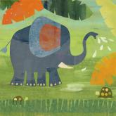 Elephant Shower by Oopsy daisy