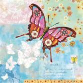 Fanciful Flight, Blue Background by Oopsy daisy