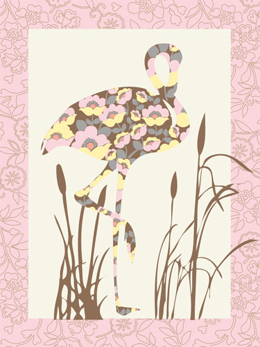Floral Flamingo by Oopsy daisy Thumbnail 1