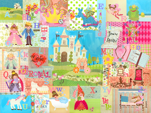 Royal alphabet wall mural by oopsy daisy for Alphabet wall mural