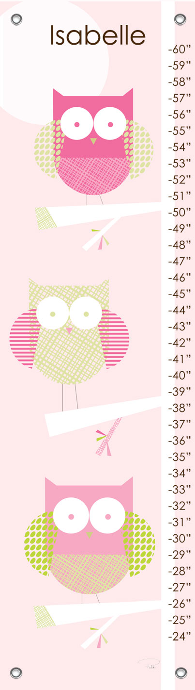 Three Little Owls Growth Chart By Oopsy Daisy