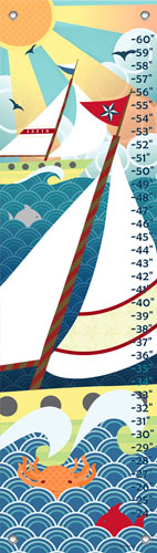 Vintage Voyage Growth Chart by Oopsy daisy Thumbnail 1