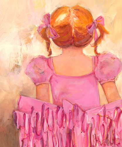 Angelic Ballerina, Red Hair by Oopsy daisy
