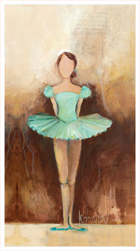 Belle of the Ballet, Green by Oopsy daisy
