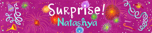 Surprise! Birthday Banner, Girl by Oopsy daisy