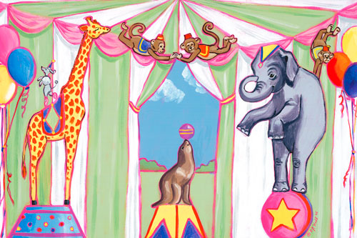Circus Animals by Oopsy daisy