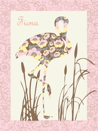 Floral Flamingo by Oopsy daisy Thumbnail