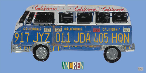 License Plate Road Trip, BLUE by Oopsy daisy Thumbnail