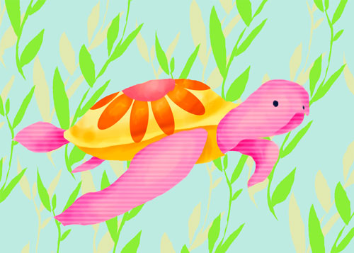 Maggie the Sea Turtle by Oopsy daisy