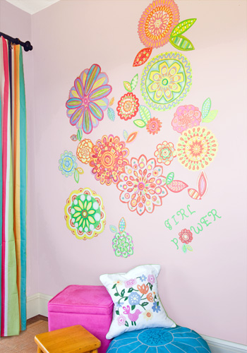 Radiant Flowers Peel & Place Wall Art by Oopsy daisy