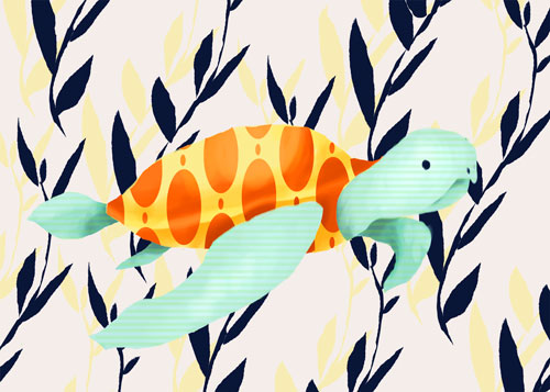 Tom the Sea Turtle by Oopsy daisy