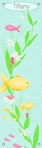 Under the Sea, Girl Growth Chart by Oopsy daisy Thumbnail