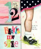 1, 2 Buckle My Shoe, Girl by Oopsy daisy