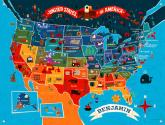 America the Beautiful Wall Mural by Oopsy daisy
