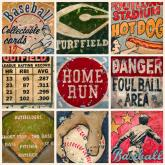 America's Favorite Pastime, Cream Border by Oopsy daisy