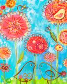 Birds and Poppies by Oopsy daisy