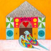 Colorful Lovebirds by Oopsy daisy