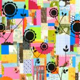 Colorful Patchwork by Oopsy daisy