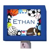 Colorful Sports Night Light by Oopsy daisy