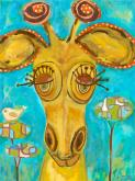 Doe-Eyed Giraffe by Oopsy daisy