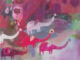 Elephant Stampede by Oopsy daisy