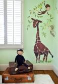 Giraffe & Monkeys Peel & Place Wall Art by Oopsy daisy