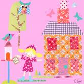 Little Houses, Purple Roof by Oopsy daisy