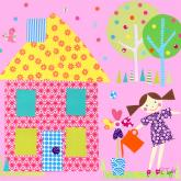 Little Houses, Yellow Roof by Oopsy daisy