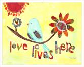 Love Lives Here by Oopsy daisy