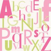 Modern Letters, Pink & Green by Oopsy daisy
