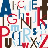 Modern Letters, Red & Blue by Oopsy daisy