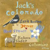 Personalized State Square, Colorado by Oopsy daisy