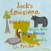 Personalized State Square, Louisiana by Oopsy daisy