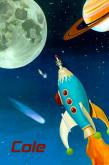 Retro Rocket by Oopsy daisy