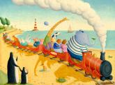 Seaside Train Ride by Oopsy daisy