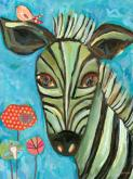 Seriously Striped Zebra by Oopsy daisy