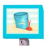 Shovel and Blue Pail Night Light by Oopsy daisy