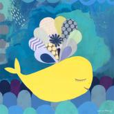 Sweet Yellow Whale by Oopsy daisy
