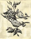 Toile Birdies, Cream and black by Oopsy daisy