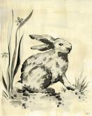 Toile Bunny, Cream & Black by Oopsy daisy